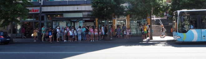 """British Lord"" bus stop Santander 716 Santander 816.JPG"