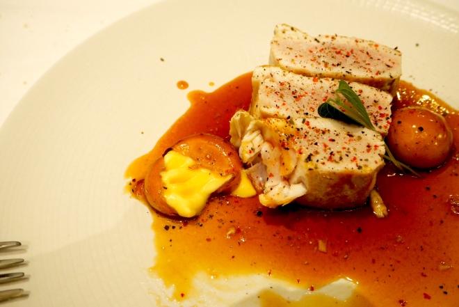 tuna, vermut toffee, orange that is not an orange Don Firmin Oviedo 816.JPG