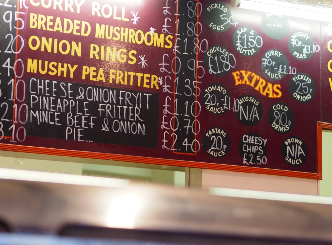 mushy pea fritter fish and chip shop Stow 717.JPG