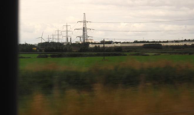 energy power lines and wind turbine Bristol Parkway-Swansea 817.JPG