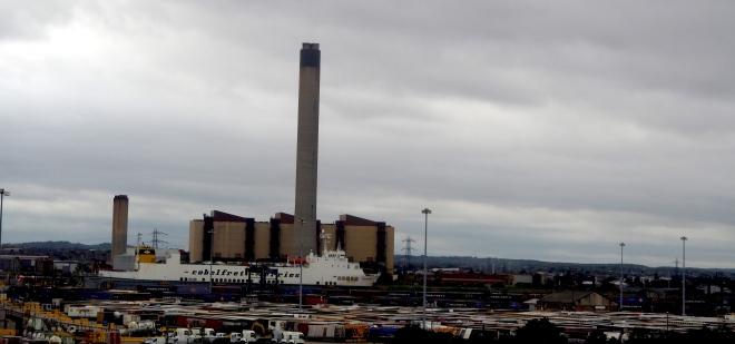 energy Littlebrook power station near Dartford tunnel train St Pancras-Folkestone 1017.JPG
