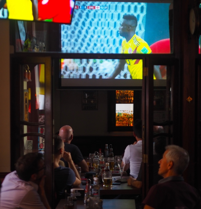 Watching England on TV (#World Cup2018)
