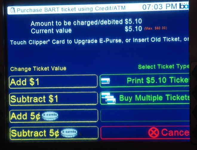 public transport BART ticket purchase screen San Francisco 818.JPG