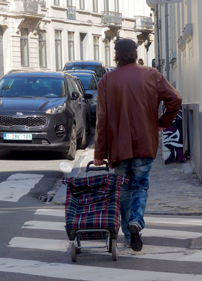 man shopping trolley Bxl 319 zebra crossing.JPG