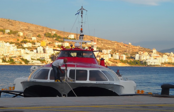 fast ferry Sarandë-Corfu 819 mooring Sarandë  4.JPG