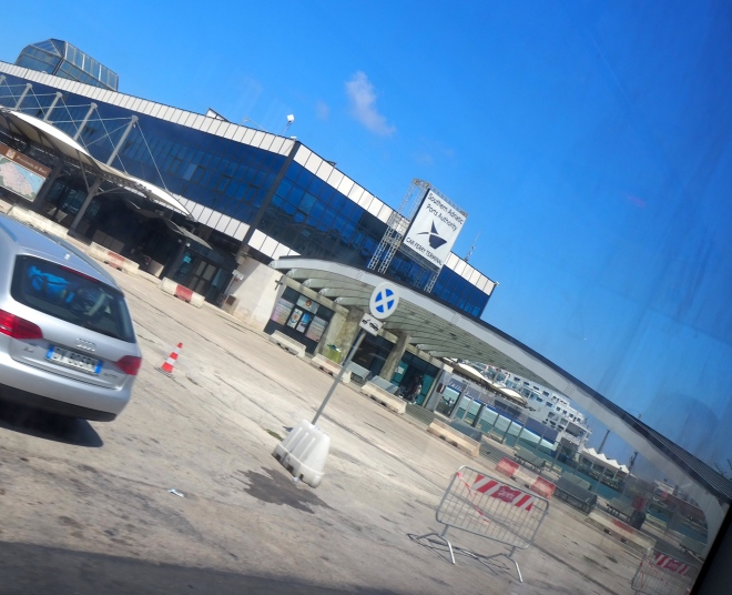 ferry terminal from shuttle bus Bari 819.JPG