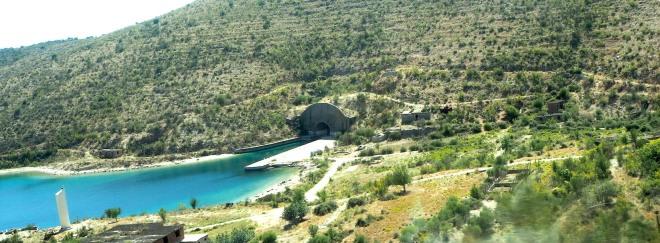 minivan Vlorë-Sarandë 819 abandoned submarine base Porto Palermo 3.JPG